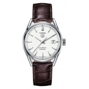 Horlogeband Tag Heuer WAR211B.FC6181 Krokodillenleer Bruin 19mm