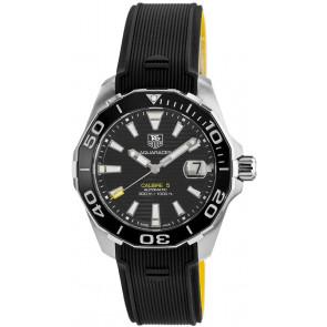 Horlogeband Tag Heuer WAY211A / FT6068 Rubber Zwart 20.5mm