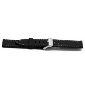 Horlogeband Universeel XH18 Rubber Zwart 22mm
