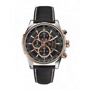 Horlogeband Guess X81007G2S Leder Zwart