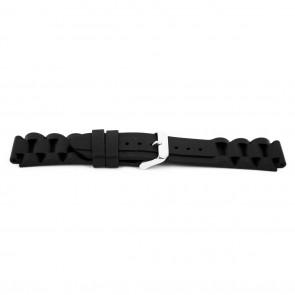 Horlogeband Rubber 18mm Zwart EX K6 32 61 18