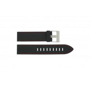 Horlogeband Universeel XH19 Silicoon Zwart 22mm
