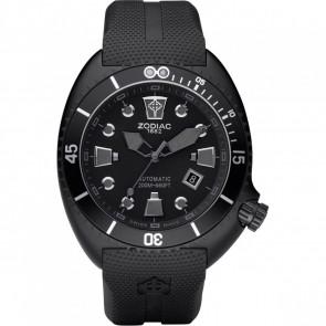 Horlogeband Zodiac ZO8010 Rubber Zwart 24mm