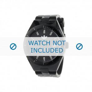 Adidas horlogeband ADH2047 Silicoon Zwart 22mm