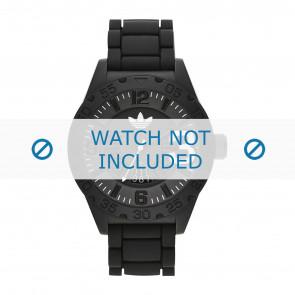 Horlogeband Adidas ADH2963 / ADH2965 Rubber Zwart 22mm