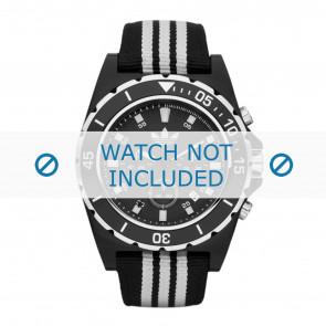Adidas horlogeband ADH2664 Textiel Zwart 24mm + standaard stiksel