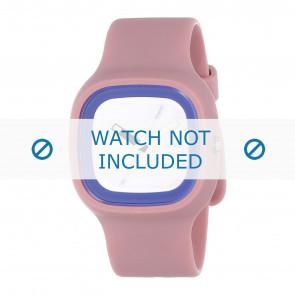 Alessi horlogeband AL10023 Rubber Roze