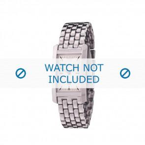 Armani horlogeband AR-0100 Staal Zilver 19mm