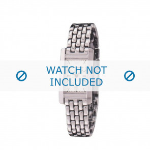 Armani horlogeband AR-0102 Staal Zilver 14mm
