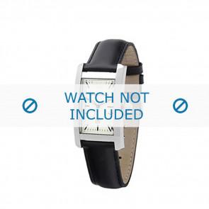 Armani horlogeband AR-0103 Leder Zwart 14mm