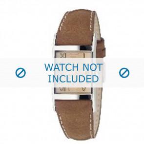 Armani horlogeband AR0251 Leder Bruin 22mm