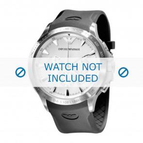 Horlogeband Armani AR0634 / AR0631 Silicoon Zwart 23mm