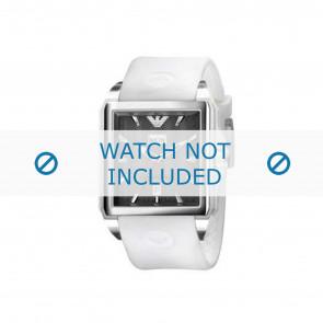 Armani horlogeband AR0654 Rubber Wit