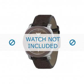 Horlogeband Armani AR5819 Leder Bruin