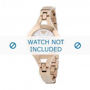 Horlogeband Armani AR7354 Leder Cream wit / Beige / Ivoor