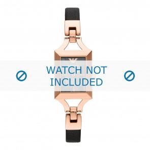 Armani horlogeband AR7373 Leder Roze