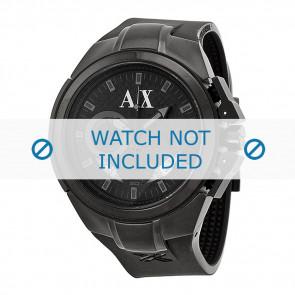 Armani horlogeband AX-1050 Silicoon Zwart 14mm