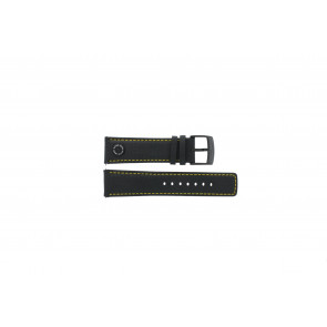 Horlogeband Camel BC51068 Leder Zwart 24mm