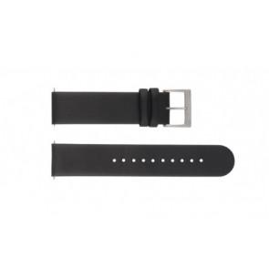 Horlogeband Mondaine A667.30344.11SBB / FE16220.20Q / BM20001 Leder Zwart 20mm