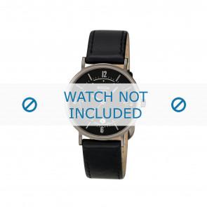 Boccia horlogeband 3154 Leder Zwart 16mm