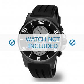Boccia horlogeband 3777-02 / 3535-02 Rubber Zwart 22mm