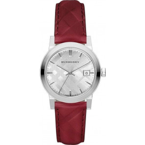 Horlogeband Burberry bu9152 Leder Rood