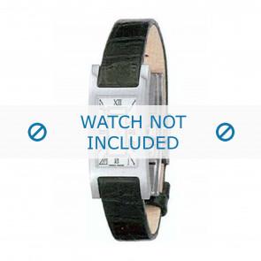 Burberry horlogeband BU1001 Leder Zwart