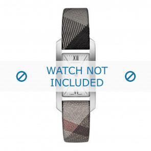 Burberry horlogeband BU1115 Leder Grijs