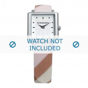 Burberry horlogeband BU2004 Leder Cream wit / Beige / Ivoor