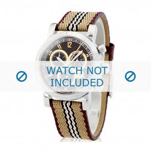 Burberry horlogeband BU7103 Leder Wit