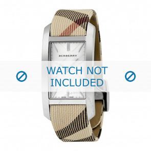 Burberry horlogeband BU9403 Leder Cream wit / Beige / Ivoor 18mm