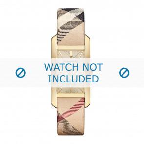 Horlogeband Burberry BU9407 / BU9406 Leder Multicolor 18mm