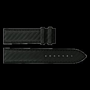 Horlogeband Certina C610016427 Leder Zwart 21mm
