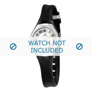 Horlogeband Calypso K5163-2 Rubber Zwart 8mm
