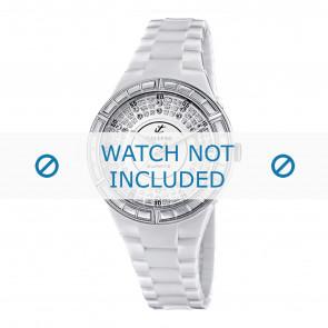 Horlogeband Calypso K5582 Kunststof/Plastic Wit 15mm