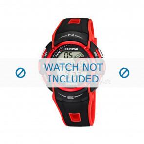 Horlogeband Calypso K5610-5 Rubber Zwart 28mm