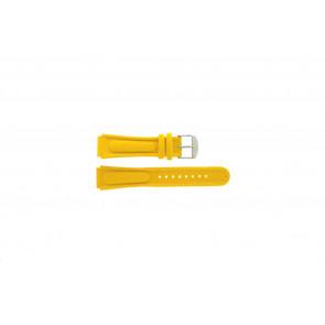 Horlogeband Camel 0980-0989 / 0990-0999 Leder Geel 18mm