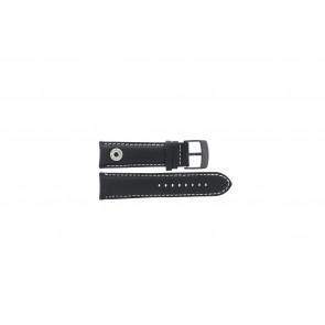 Horlogeband Camel BC51067 Active Leder Zwart 24mm