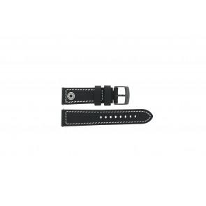 Horlogeband Camel BC51084 Active Leder Zwart 24mm