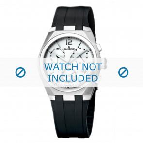 Horlogeband Candino C7509-1 Rubber Zwart 21mm