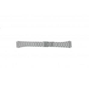 Casio horlogeband A158WEA-1EF Staal Zilver 18mm