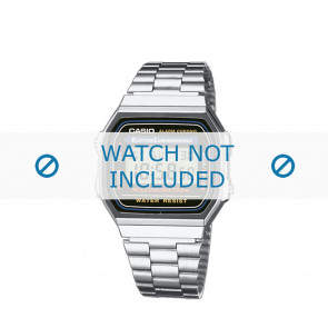 Casio horlogeband A168WA-1YES / A168WA-1Y Staal Zilver 18mm