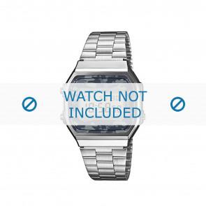 Casio horlogeband A168WEC-1EF / A168WEC-1 Staal Zilver 18mm