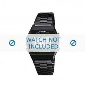Horlogeband B640WB-1AEF / B640WB-1A / 10409334 Staal Zwart 18mm