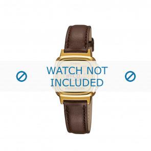 Horlogeband LA670WEGL-9EF / LA670WEGL-9 / 10433815 Leder Bruin 13mm