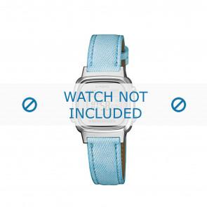 Horlogeband Casio LA670WEL-2AEF / LA670WEL-2A / 10487164 Leder Blauw 13mm