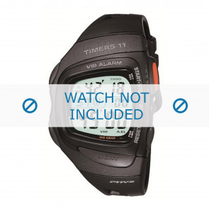 Horlogeband Casio RFT100 Rubber Zwart 16mm