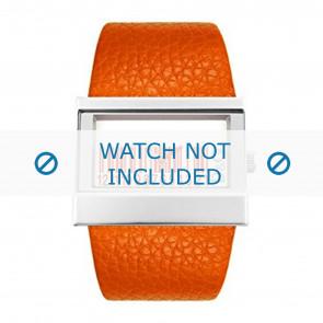 Horlogeband Dolce & Gabbana 3719240404 Leder Oranje 35mm