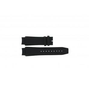 Dolce & Gabbana horlogeband 3719770097 Leder Zwart 20mm + zwart stiksel