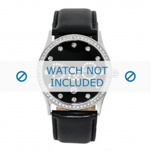Horlogeband Dolce & Gabbana DW0008 Leder Zwart 24mm